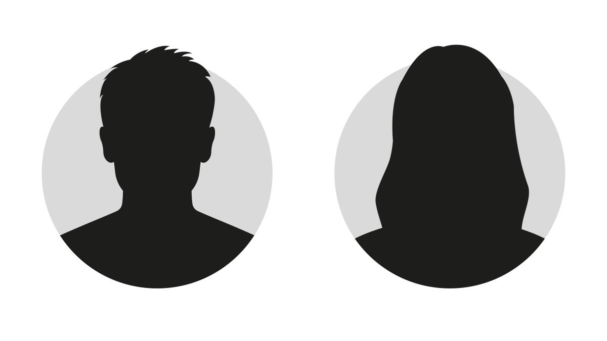 Силуэты двух неизвестных людей.