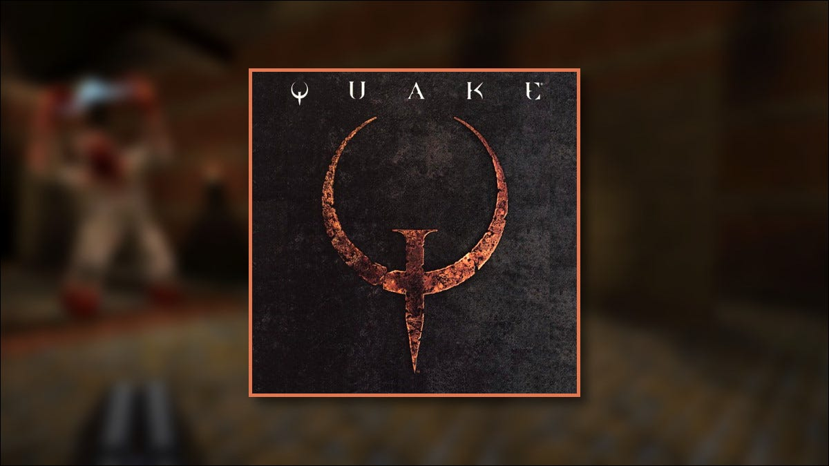 The Quake 1 Logo and box art