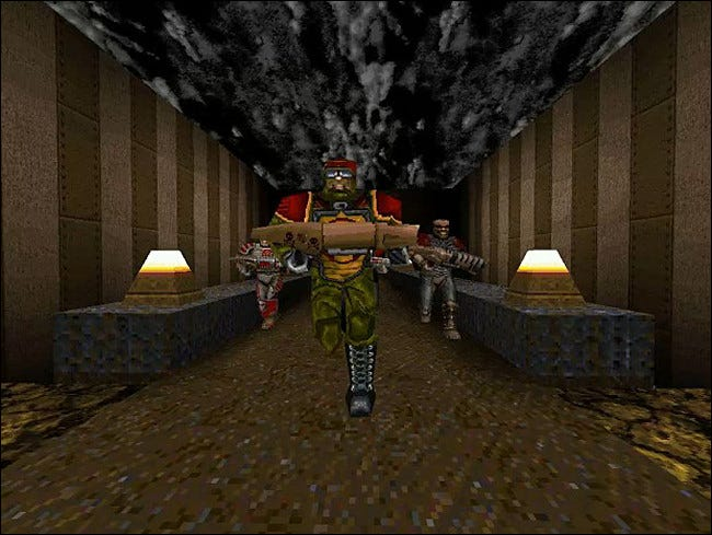 The Team Fortress mod for Quake invented a new multiplayer genre.