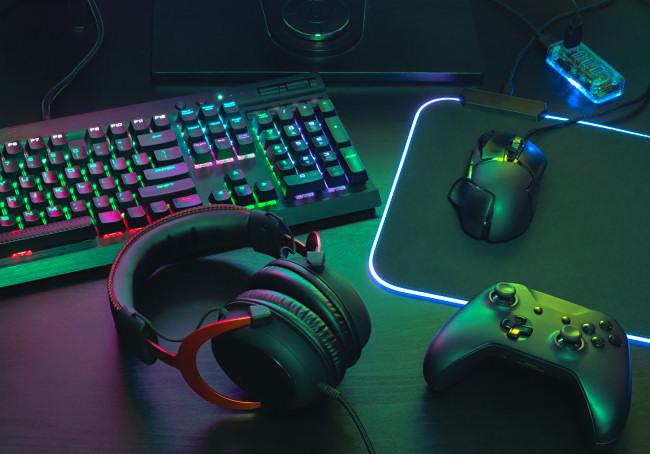 RGB gaming gear.