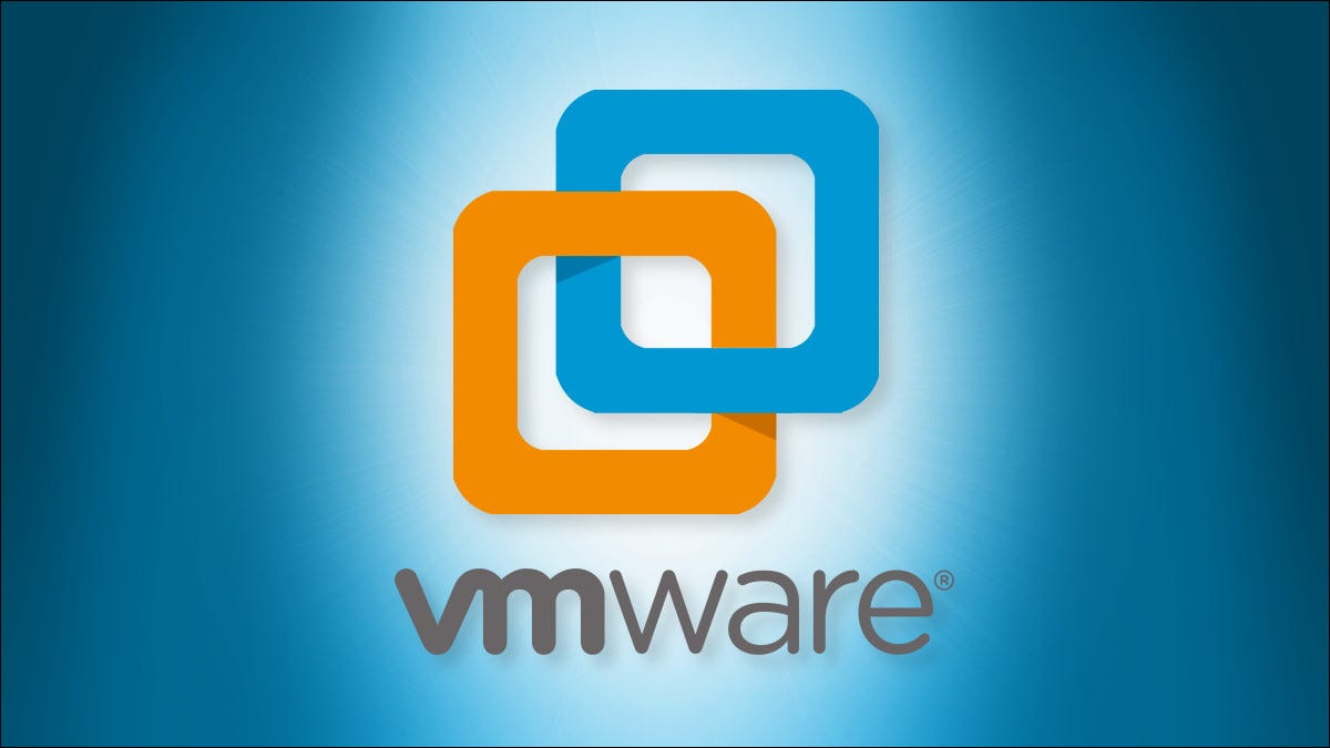 The VMware Workstation logo on a blue background