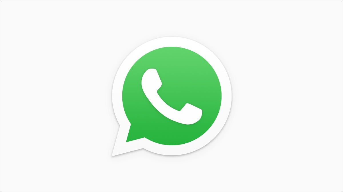 WhatsApp logo on white background.