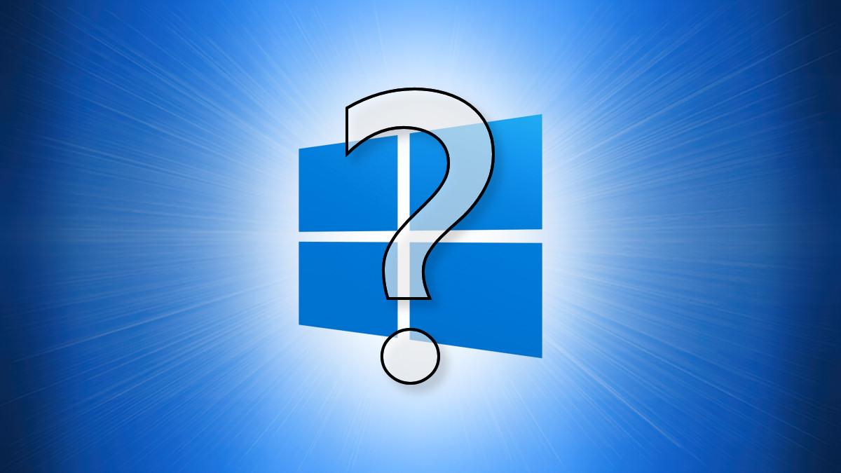 Логотип Windows 10 со знаком вопроса перед ним