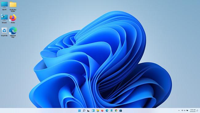 The Windows 11 Preview desktop