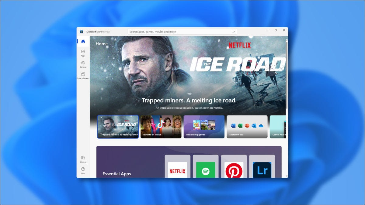 The New Microsoft Store in Windows 11 Preview