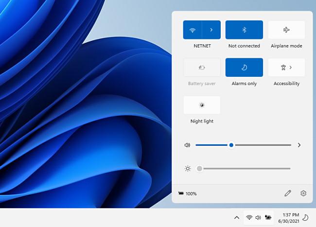 The Windows 11 Quick Setup Menu