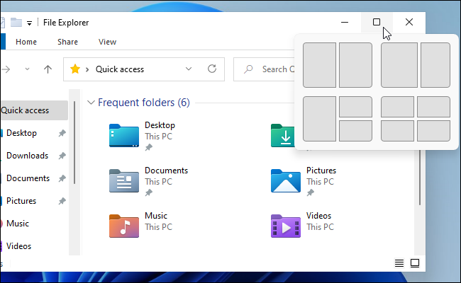 Windows 11's leaked Snap popup
