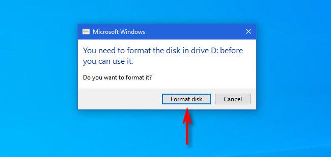 """Нажмите """"Отформатировать диск."""""""