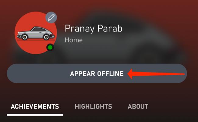 """Tap """"Appear Offline."""""""