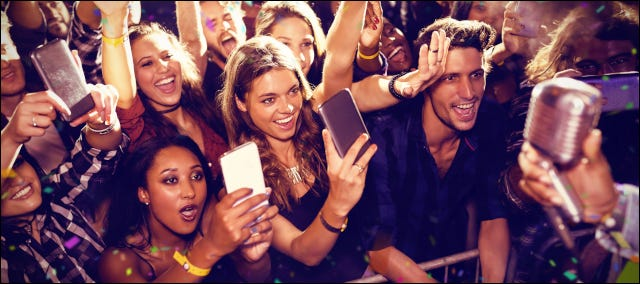 Young fans at a concert