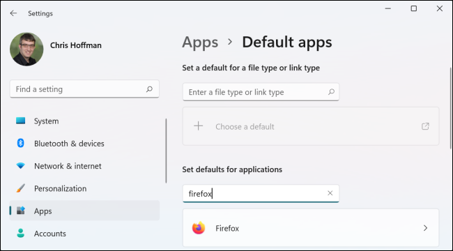 Select Settings > Apps > Default Apps and find your web browser of choice.