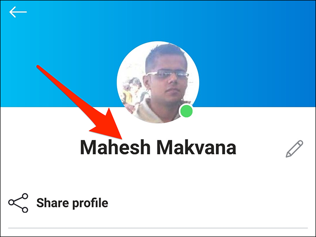 New display name in the Skype mobile app.