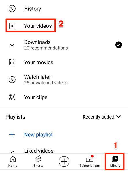 """Acesse os vídeos enviados em Biblioteca> Seus vídeos no aplicativo do YouTube."""" width=""""444″ height=""""600″ onload=""""pagespeed.lazyLoadImages.loadIfVisibleAndMaybeBeacon(this);"""" onerror=""""this.onerror=null;pagespeed.lazyLoadImages.loadIfVisibleAndMaybeBeacon(this);""""></p> <p>E é assim que você dá o primeiro passo em sua jornada para se tornar um YouTuber!</p> <p>Existem várias coisas que podem fazer seu vídeo se destacar no YouTube.  Confira como fazer um bom guia de vídeo do YouTube para aprender algumas das dicas para fazer vídeos.</p> <p><strong>RELACIONADO:</strong> <strong><em>Como fazer bons vídeos no YouTube</em></strong></p> </div> </div>  <nav class="""