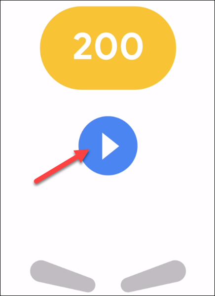 Tap the blue play button to start a new game.