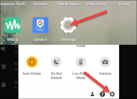 Go to Settings from the home screen or notification shade.
