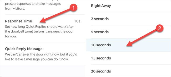 """First, select """"Response Time"""" and choose a time length."""