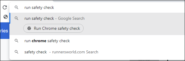 Safety Check Chrome Actions