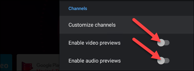 """Toggle both """"Enable video preview"""" And """"Enable audio preview."""""""