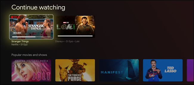 """The title will now be gone from the """"Continue Watching"""" row!"""