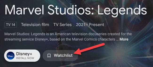 "Click ""Watchlist."""