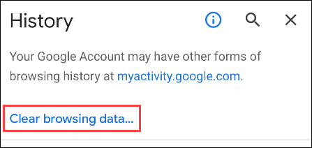 """Select """"Clear Browsing Data."""""""