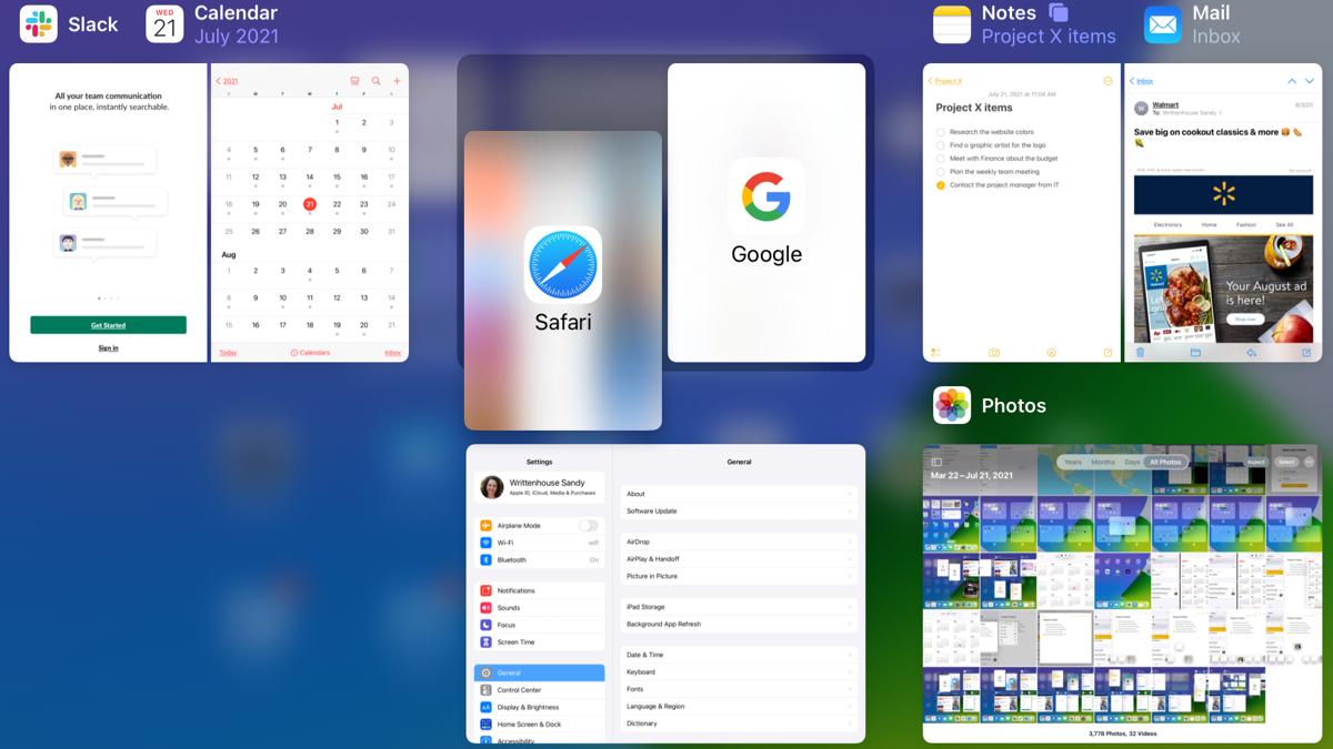 App Switcher with split view on iPad