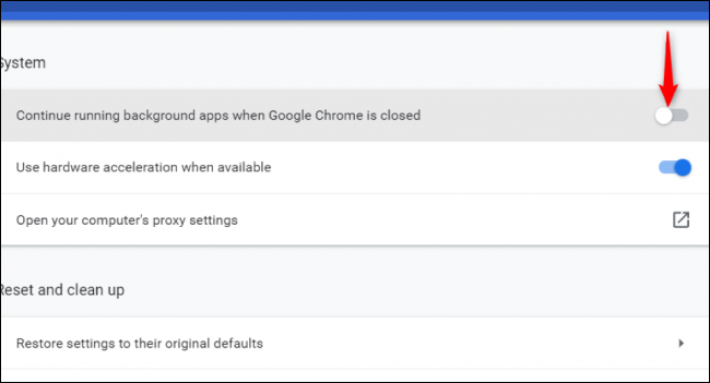 """Turn off the """"Continue running background apps when Google Chrome is closed"""" for your system's memory can finally take a breather"""