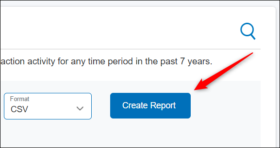 "Click ""Create Report."""