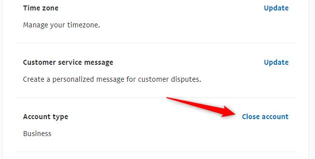 """Click the """"Close Account"""" button."""