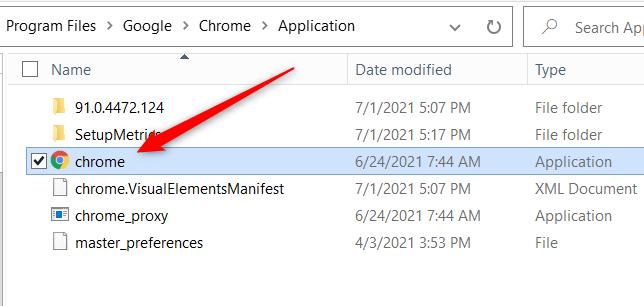Click the app in File Explorer.