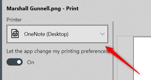 "Click the box under the ""Printer"" option."