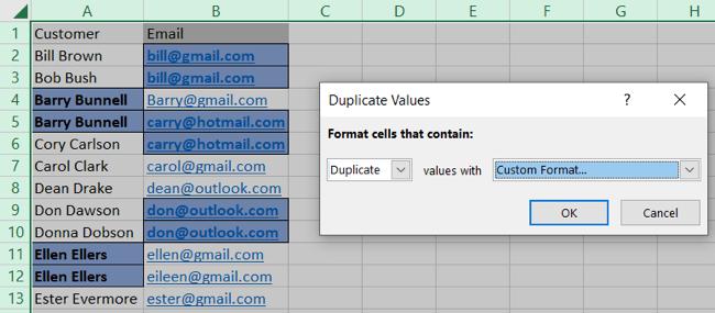 Custom Conditional Formatting in Excel