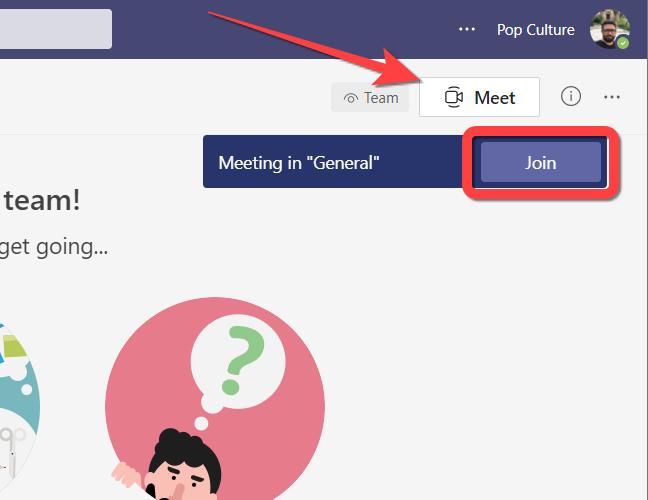 """Clique no botão """"Meet Now"""" para criar uma nova reunião ou no botão """"Join"""" para ingressar em uma reunião existente no Microsoft Teams para a web."""
