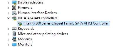 """Expand the """"IDEA ATA/ATAPI Controllers"""""""