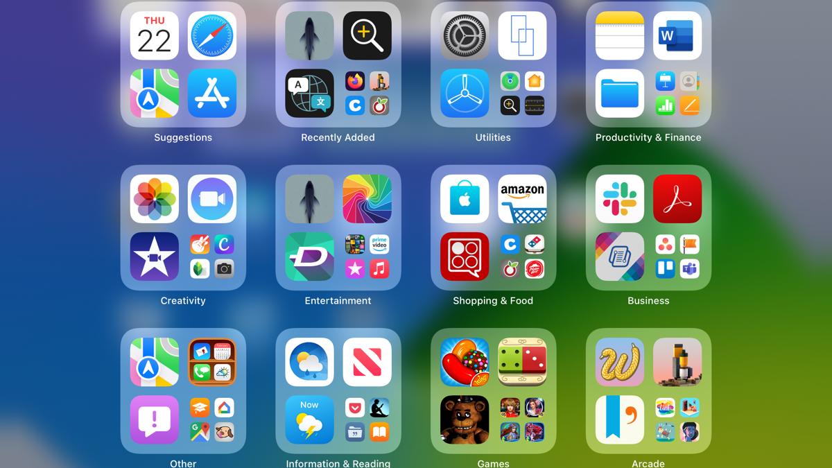 App Library on iPad