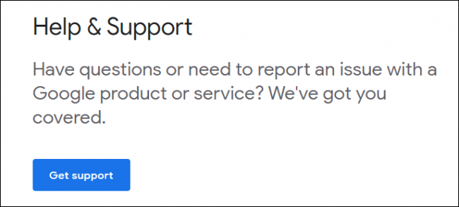 Ask help from google support