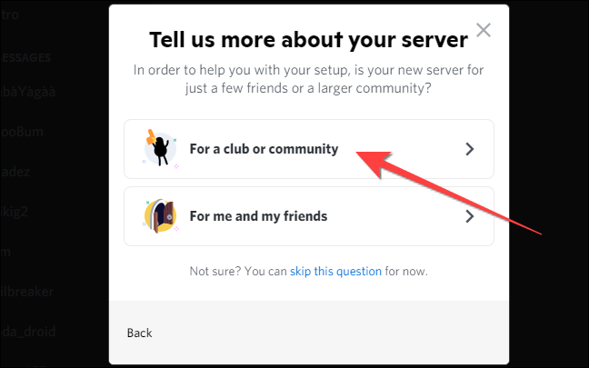 """select """"For a Club or Community."""""""