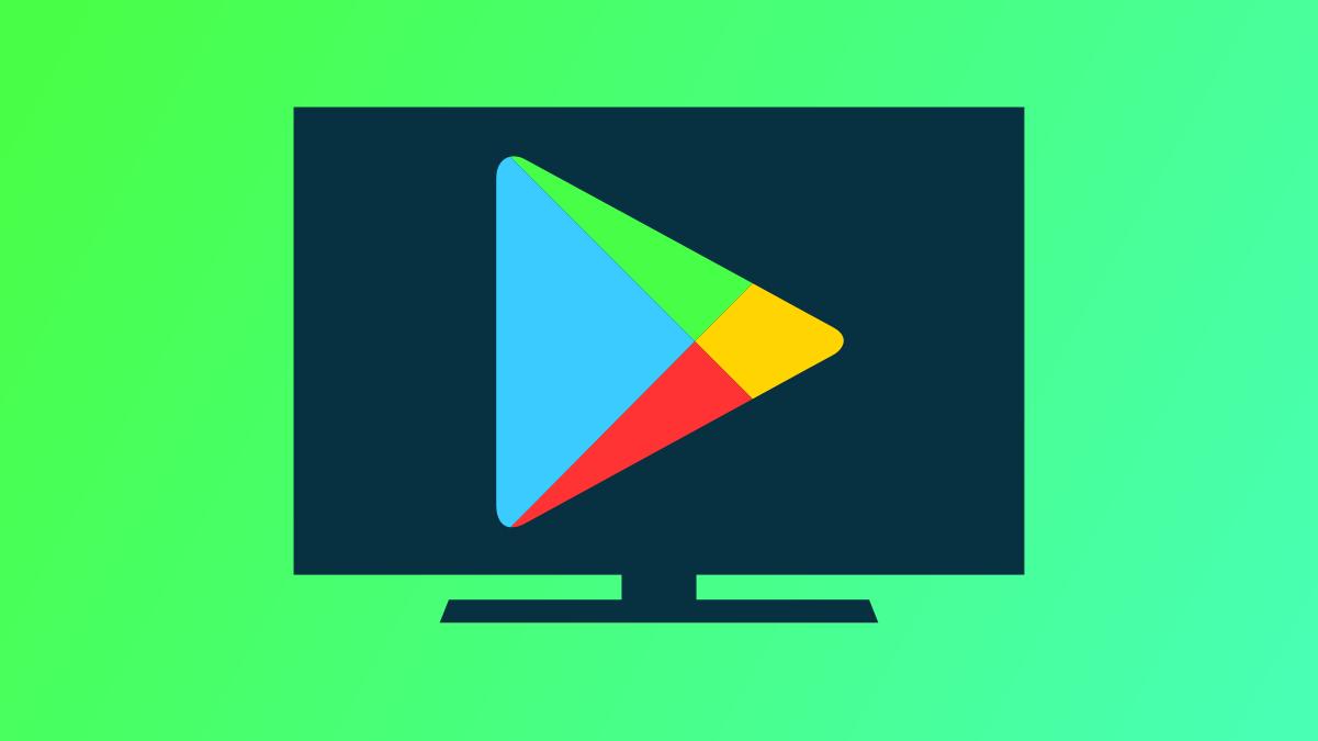 Google Play Store logo on TV.