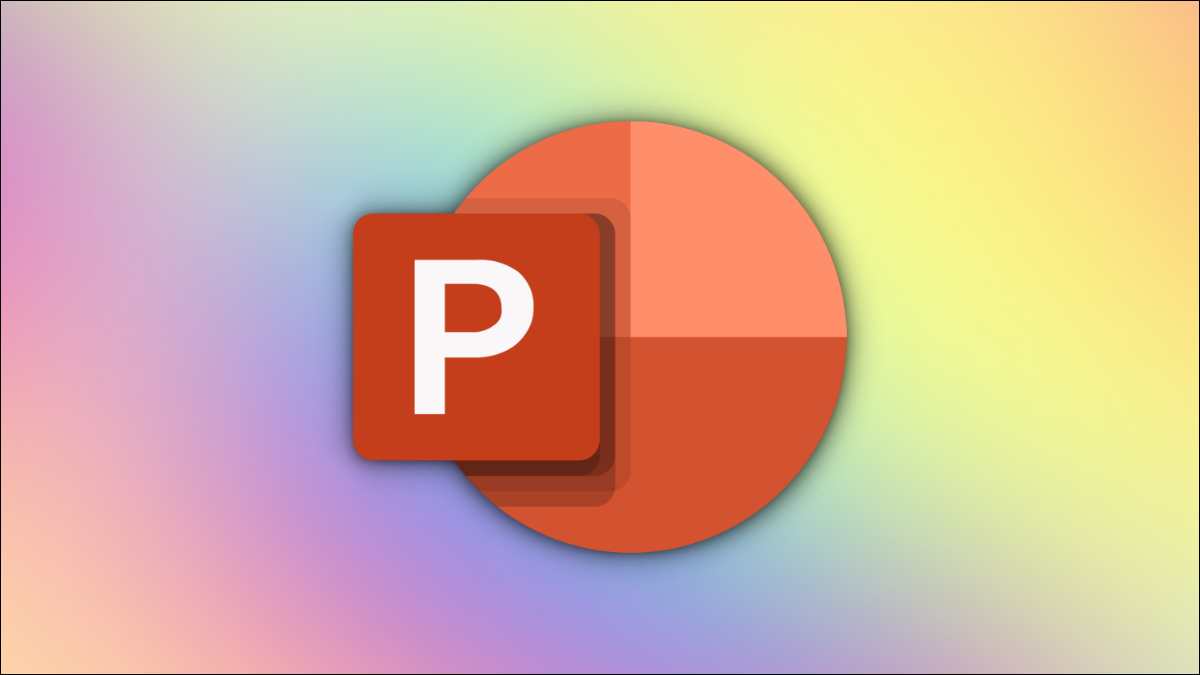 PowerPoint logo on a multicolor gradient background