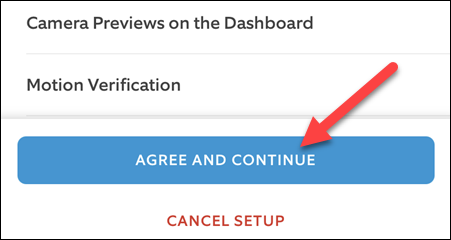 """Tap """"Agree and Continue"""" if you want to proceed."""