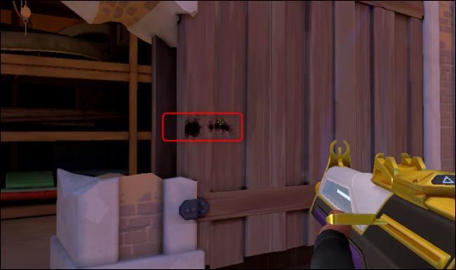 Shoot through objects such as walls to deal damage to opponents