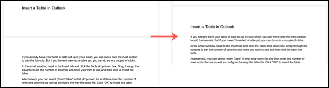 Keep With Next Before and After in Google Docs
