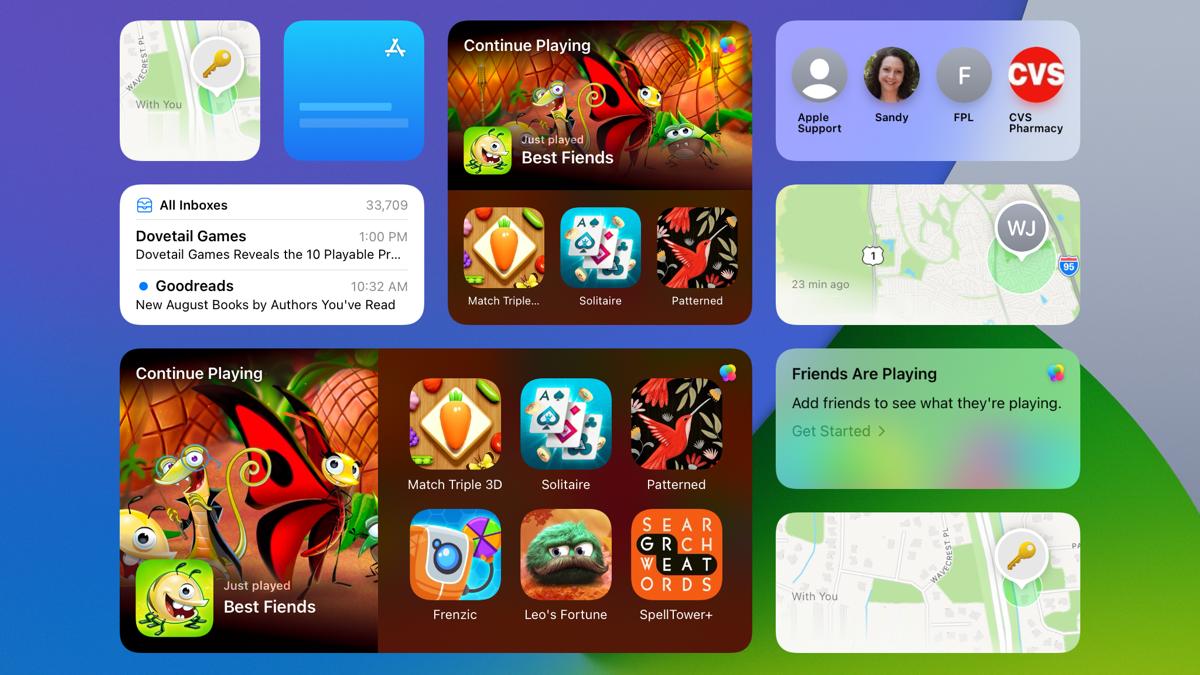 New widgets on iPadOS 15
