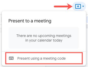Click Present Using a Meeting Code