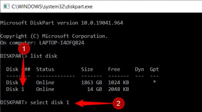 """Πληκτρολογήστε """"επιλογή δίσκου [αριθμός δίσκου]"""" ή τη συσκευή που πρέπει να επιλεγεί"""