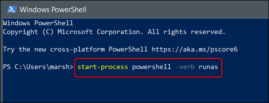 Run command in PowerShell to switch to admin mode.