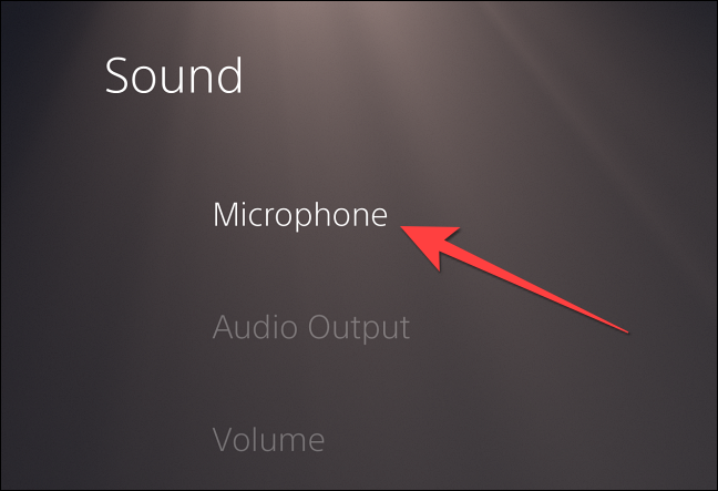 """Select """"Microphone"""" from the left column."""