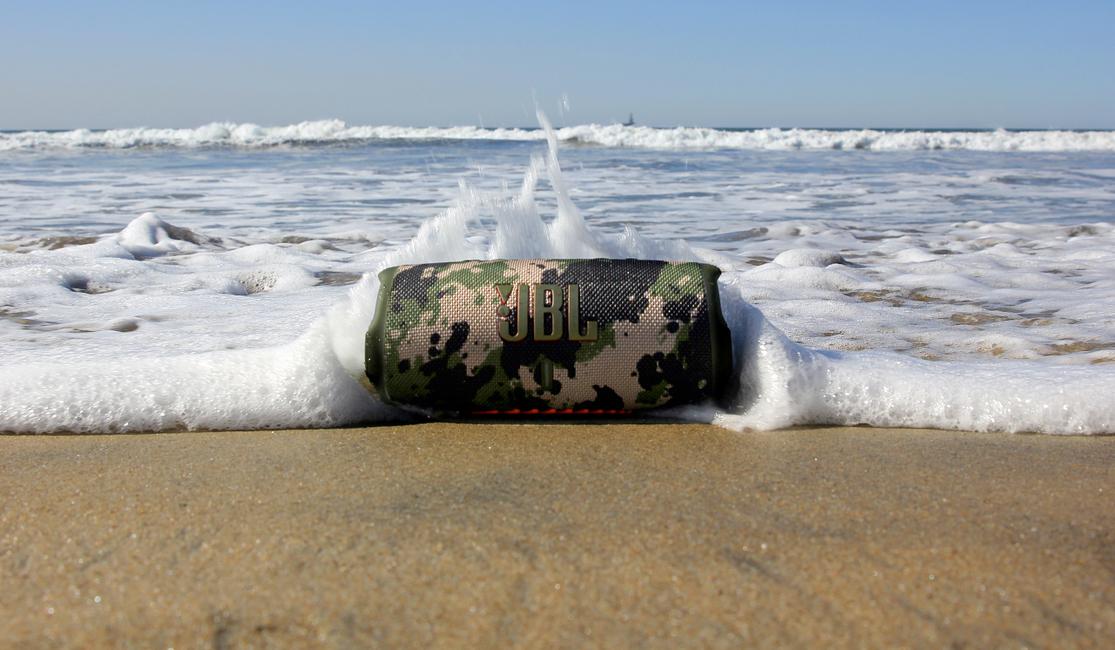 JBL Charge 5 on beach