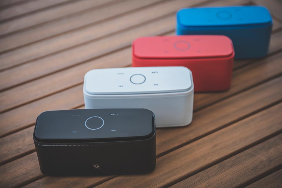 DOSS Soundboxes on deck