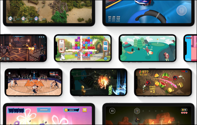 Selection of games on Apple Arcade